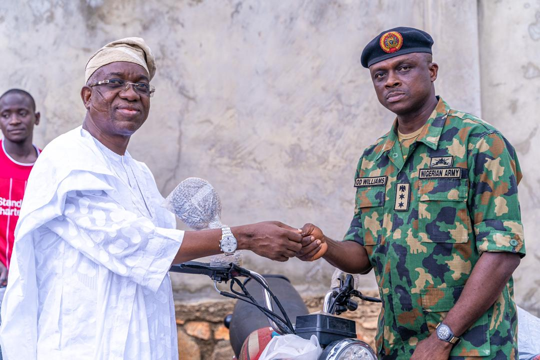Oyo Deputy Governor Donates Patrol Motorcycles To Security Operatives In Oke Ogun.