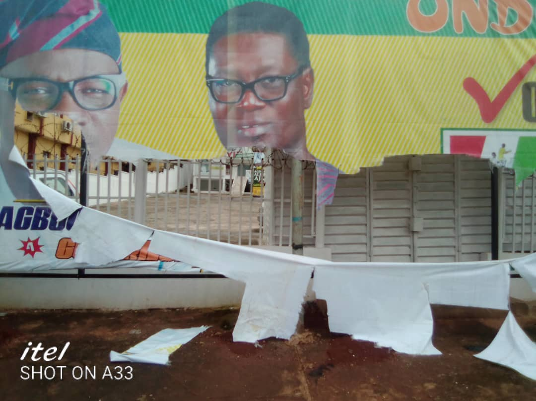 Ajayi's Campaign Secretariat Attacked By APC Thugs-DG