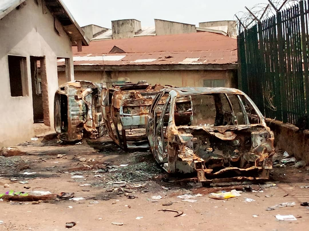 Egbeda LG Boss Inspects The Police Stations Vandalized During Endsars Protest