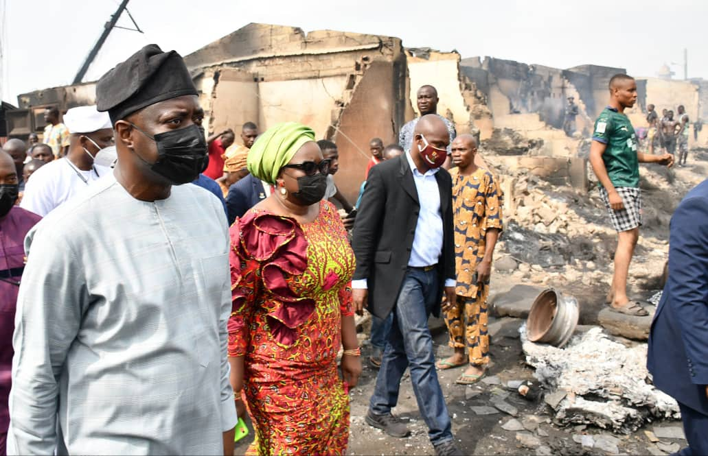 Ibadan Market Inferno: Makinde May Relocate Gate Spare Part Market, Pledges To Meet Market Leaders On Way Forward